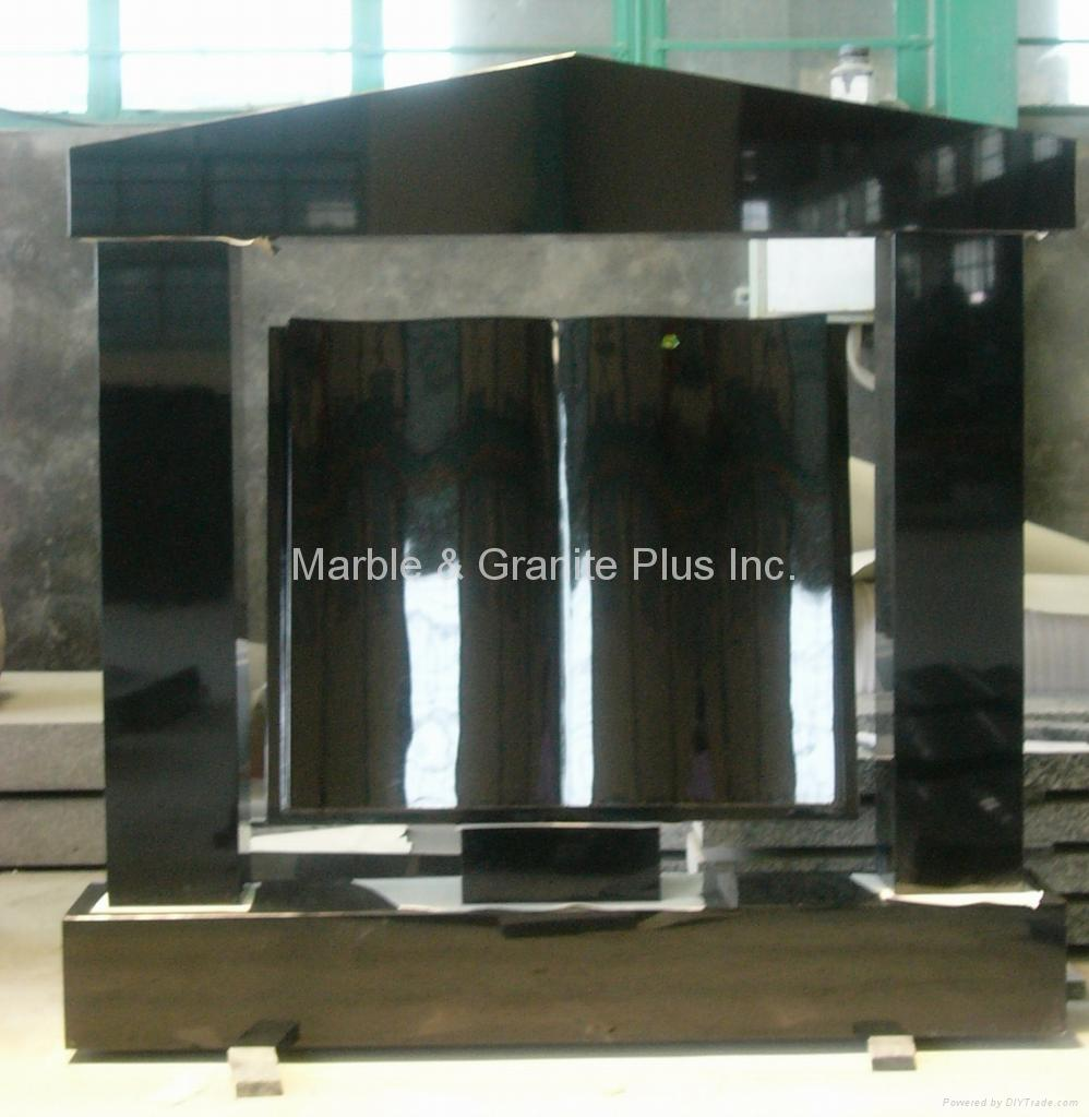 Shanxi Black/Imperial Black Granite Memorial 3