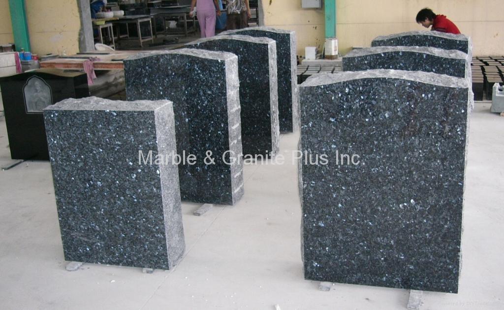 Blue Pearl Granite Monument 1