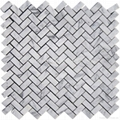 Bianco Carrara Herringbone Mosaic Tile