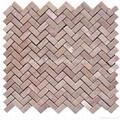 Oriental Pink Herringbone Mosaic Tile