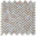 Honey Onyx Herringbone Mosaic Tile