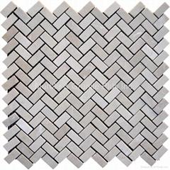 Royal Botticino Herringbone Mosaic Tile