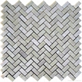 Light Irish Green Herringbone Mosaic Tile