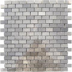 Blue Stone Brick Pattern Mosaic Tile