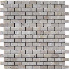Turkish Beige Travertine Brick Pattern Mosaic Tile