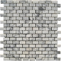 Bianco Carrara Brick Pattern Mosaic Tile