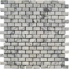 Bianco Carrara Brick Pattern Mosaic Tile