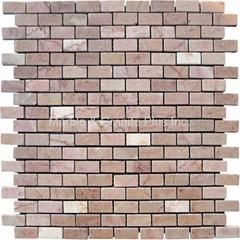 Oriental Pink Brick Pattern Mosaic Tile