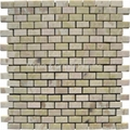 Light Irish Green Brick Pattern Mosaic Tile