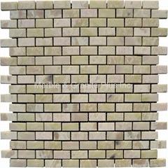 Light Irish Green Brick Pattern Mosaic Tile