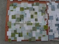 Opus Verde Marble Mosaic Tiles
