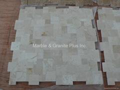 Opus Crema Marfil Marble Mosaic Tile