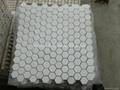 Thassos Hex Pattern Mosaic Tile