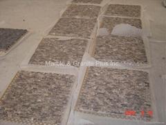 Marron Emperador Split finish marble mosaic tiles