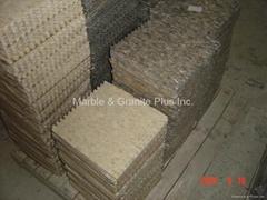 Sunny Beige Split finish marble mosaic tiles