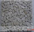 Crema Marfil, random mosaic tile, tumbled