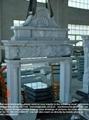 China White marble fireplace