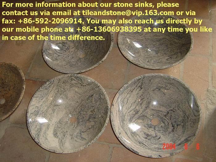 Tiger Skin granite sinks 1
