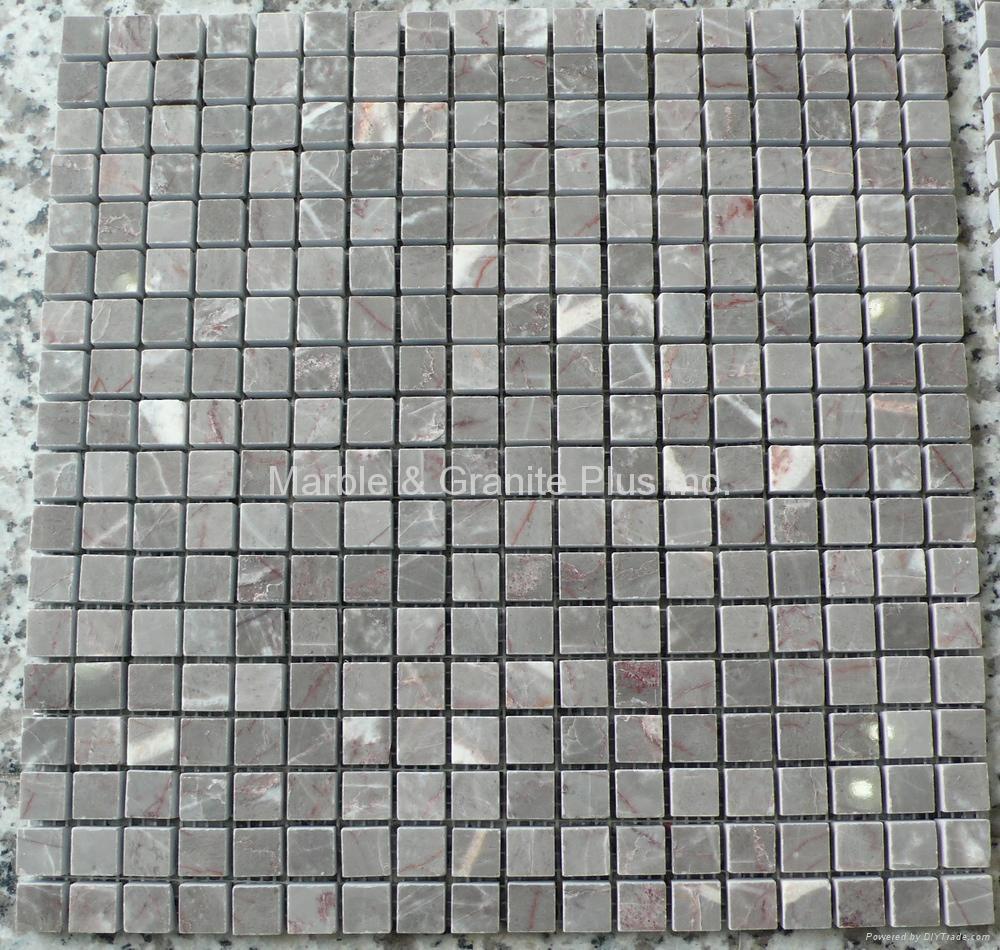 Mystic Grey Mucy Grey Gris Jaspe Marble Mosaic Tiles