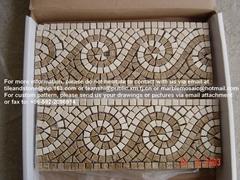 Marble mosaic border
