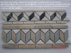 Marble mosaic borders