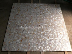25x25mm/600x600x11 Solid White Mother of Pearl Tile, porcelain tile backing
