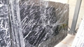 Nero Marquina marble slab (more white veins)