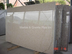 G682 Sunset Gold, Rustic Yellow granite slab