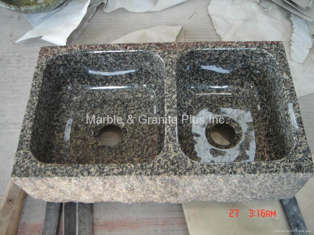 Leopard Skin granite farmhouse sink 1