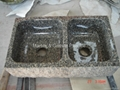 Leopard Skin granite farmhouse sink