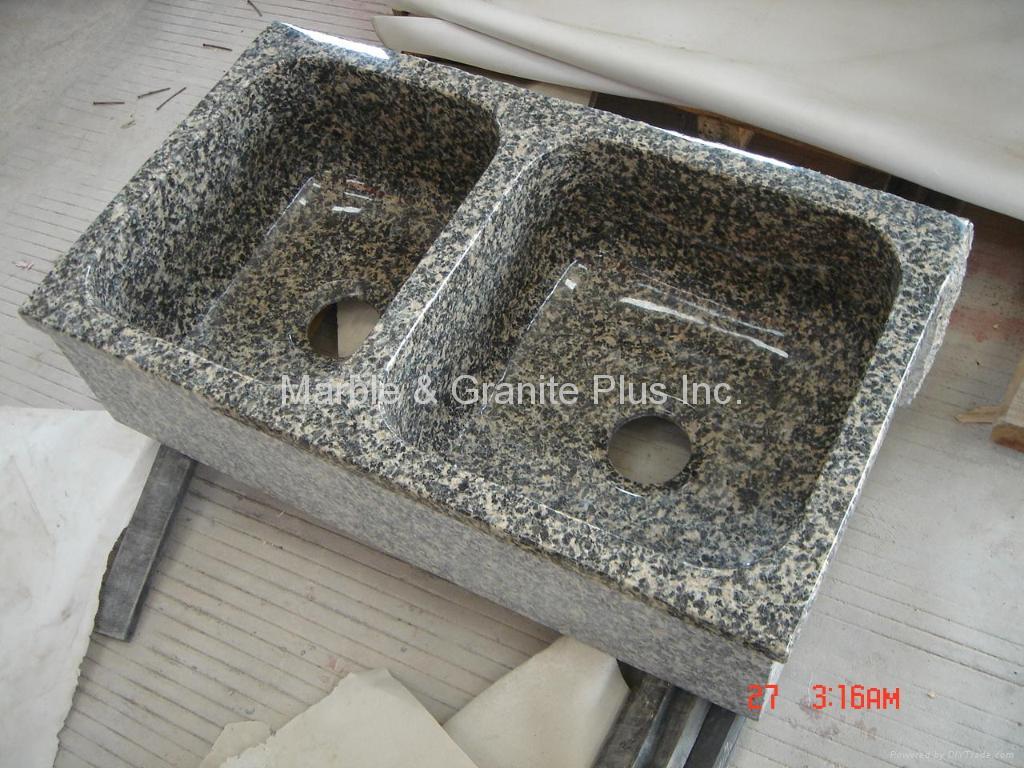 Leopard Skin granite farmhouse sink 2