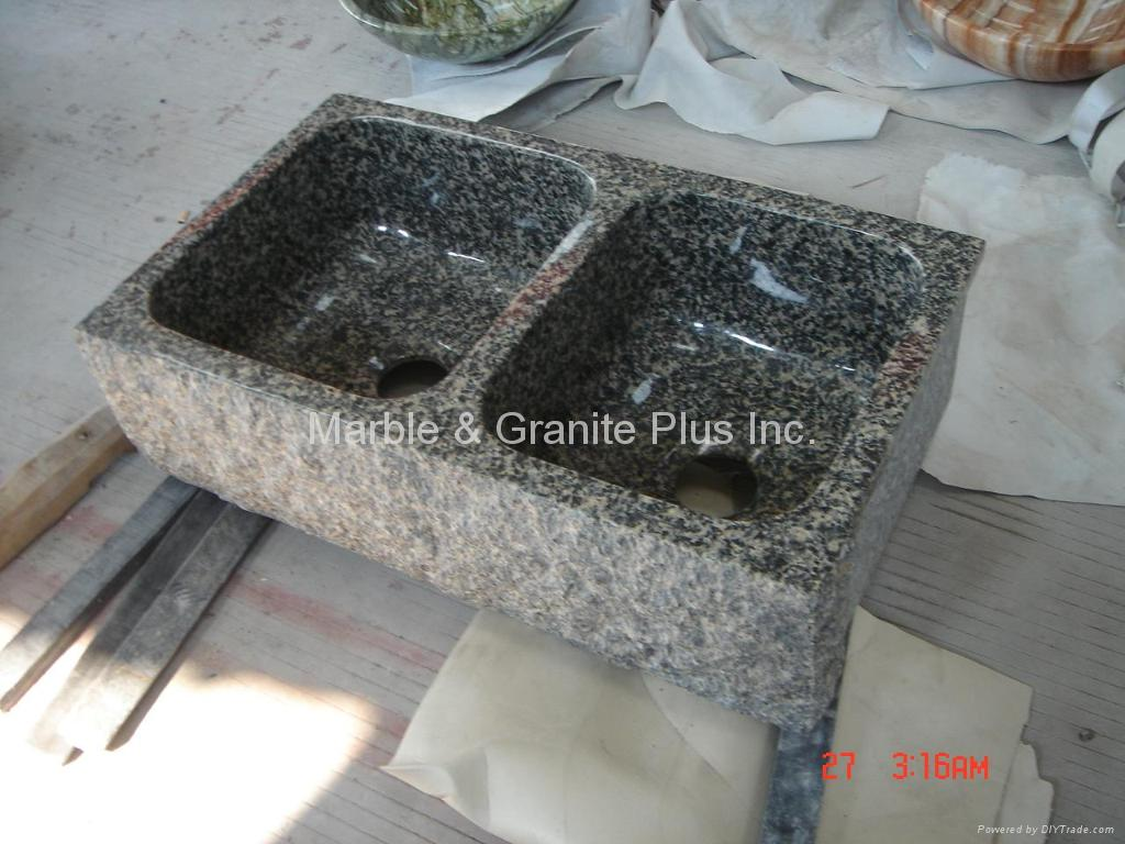 Leopard Skin granite farmhouse sink 3