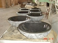 Granite bowl sink with natural cleft finish exterior 2