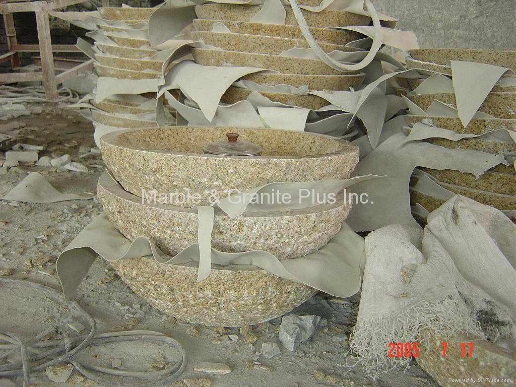 Natural cleft fish bowl sink 2