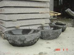 Natural Cleft finish granite lavatory sink