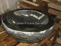 Natural Cleft finish granite lavatory sink 2