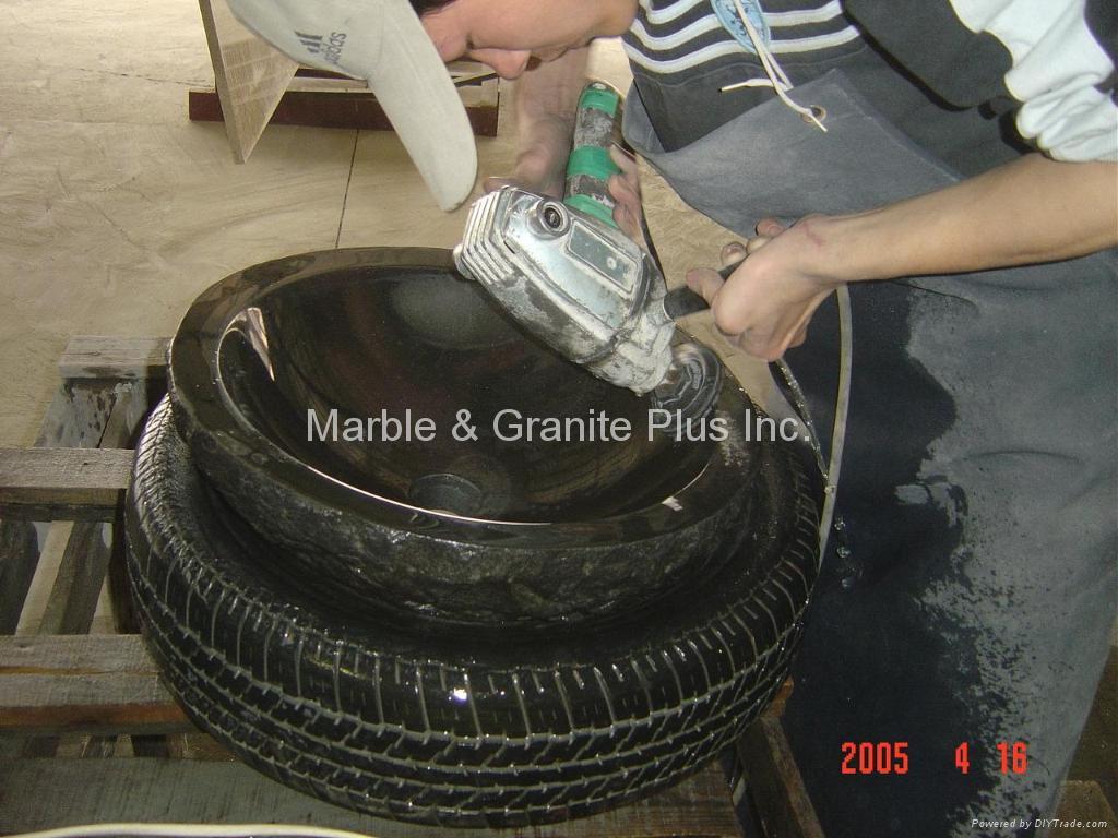 Natural Cleft finish granite lavatory sink 3