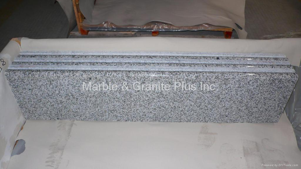 Solid front edge granite step 1