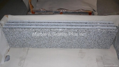 Solid front edge granite step