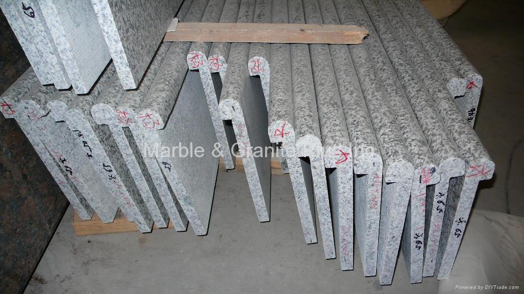 Solid front edge granite step 5