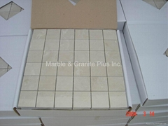 Royal Botticino marble mosaic tile