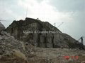 G611 Almond Mauve granite quarry