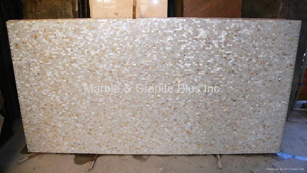 25x15mm/2430x1210x20mm Solid White freshwater MOP slab
