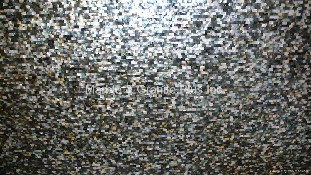 20x10mm/2440x1220x20mm Solid Blacklip Seashell MOP slab