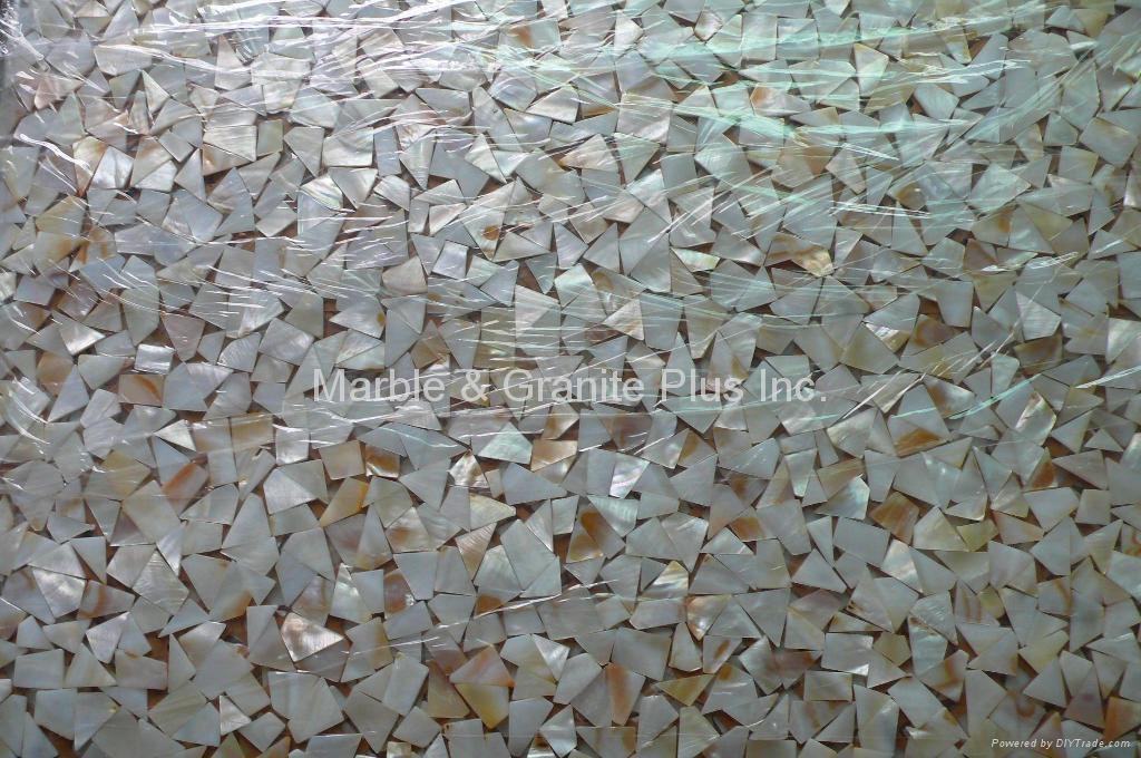 Random White MOP mosaic tile