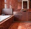 Rosso Impero bathroom