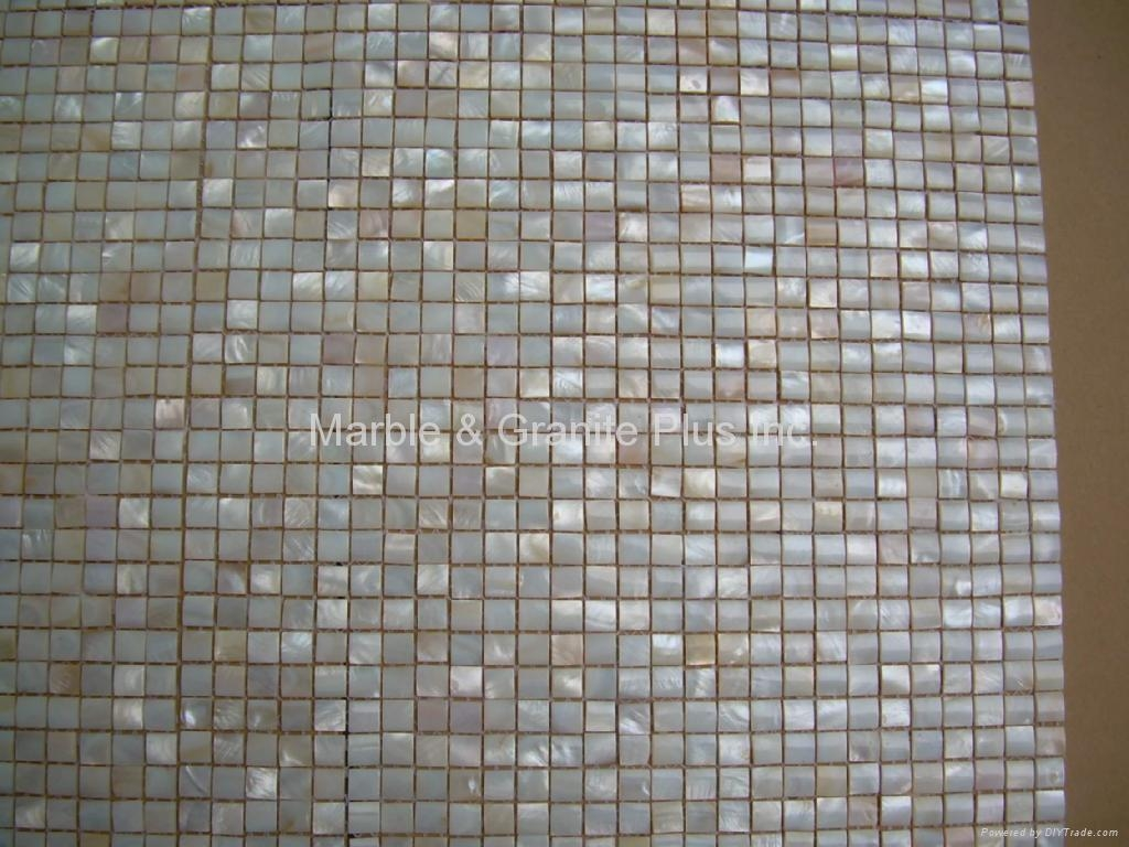 10x10mm/300x300x3mm mesh 3D Mother of Pearl (MOP) shell mosaic tiles
