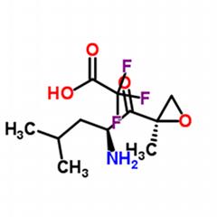 (2S)-2-氨基-4-甲基-1-((2R)-2-甲基環氧乙烷-2-基)-1-戊酮三氟乙酸鹽
