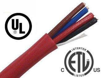 4C 2.5mm2 Fire Alarm Wire Cable FPLR Unshielded Riser