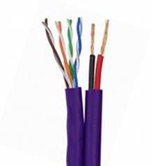 1CAT5e + 2 power cable